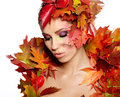 Autumn Queen Royalty Free Stock Photography