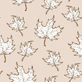 Autumn red maple leaves seamless pattern Royalty Free Stock Photo
