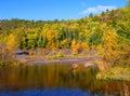 Autumn Surrounds Cliff Mine Royalty Free Stock Photo