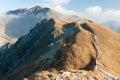Autumn on the ridge of western tatras view zã padnã tatry main from summit salatã n carpathians slovakia Stock Images