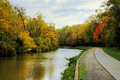 Autumn River Scene Stock Photos
