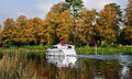 Autumn on the River Thames in England Royalty Free Stock Photography