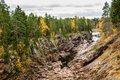 Autumn rocky canyon Royalty Free Stock Photo