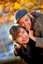 Autumn romance Stock Photography