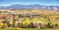 Autumn rural panoramic landscape, Colorado. Royalty Free Stock Photo