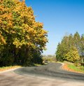 Autumn rural road Stock Photo