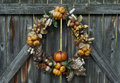 Autumn's Bounty Wreath Royalty Free Stock Photo