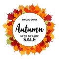 stock image of  Autumn 50% Sale Off Shops Discount