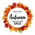 Autumn 20% Sale Off Banner