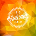 Autumn sale poster polygonal background vector eps illustration Royalty Free Stock Photo