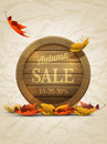 Autumn sale poster template Stockfotos