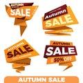 Autumn sale. Sale label price tag banner badge template sticker