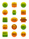 Autumn Sale Stickers Royalty Free Stock Image