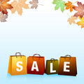Autumn Sales Background Royalty Free Stock Image