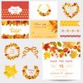 Autumn Scrapbook Design Elements Royalty Free Stock Photo