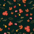 Autumn seamless background vector illustration Royalty Free Stock Images