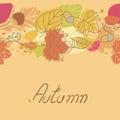 Autumn Seamless Border