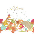 Autumn seamless border Stock Photography