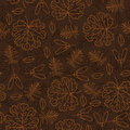 Autumn seamless leaf pattern Royalty Free Stock Photo
