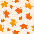 Autumn seamless pattern Stock Photo