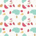 Autumn, seamless pattern Stock Images