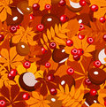 Autumn  seamless pattern. Stock Photos