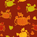 Autumn seamless pattern with pumpkin Royalty Free Stock Photo