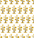 Autumn seamless pattern with trees on white background. autumn greeting cards wallpaper.