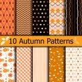 Autumn seamless patterns Royalty Free Stock Photo