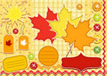 Autumn set for scrapbook . Royalty Free Stock Photo
