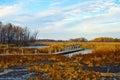 Autumn sketches on Horicon Marsh, Wisconsin Royalty Free Stock Photo