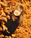 Autumn smiling beauty woman portrait Royalty Free Stock Images
