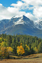 Autumn snowy peaks Royalty Free Stock Photo