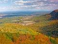 Autumn Splendor revealed through oranges and yellows Royalty Free Stock Photo