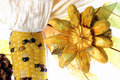 Autumn still life. Indian corn, dried flowers and leaves 0043 Stock Photos