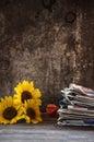 Autumn still life on table Royalty Free Stock Photography