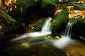 Autumn stream in Giant mountains Royalty Free Stock Photo