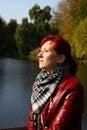 Autumn sun enjoyment Royalty Free Stock Images