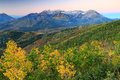 Autumn sunrise in the Wasatch Mountains. Royalty Free Stock Photo