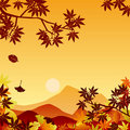 Autumn sunset Royalty Free Stock Photo