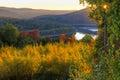 Autumn Sunset on the Pepacton Reservoir
