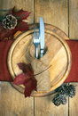 Autumn table setting Fotografie Stock Libere da Diritti