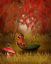 Autumn Tale background Royalty Free Stock Photography