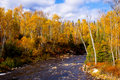 Autumn, temperance river Stock Image