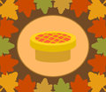 Autumn thanksgiving day background with pie vector Royalty Free Stock Image