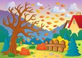Autumn thematic image eps vector illustration Royalty Free Stock Images
