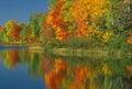 Autumn Thornton Lake Royalty Free Stock Photo