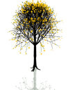 autumn tree vector Arkivbild