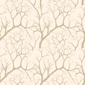 Autumn trees seamless pattern texture chinese garden background with tree without leaves on the sky tree Stock Photos
