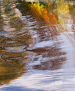 Autumn Trees Water Reflection Background Royalty Free Stock Photos